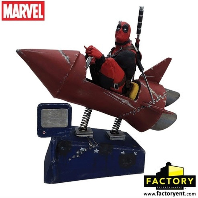 Deadpool Rocket Ride - Premium Motion Statue