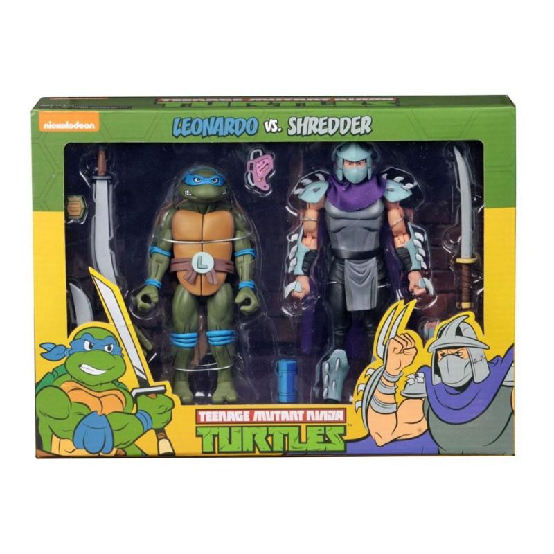 Leonardo vs Shredder - Teenage Mutant Ninja Turtles - Actionfiguren Doppelpack 18cm