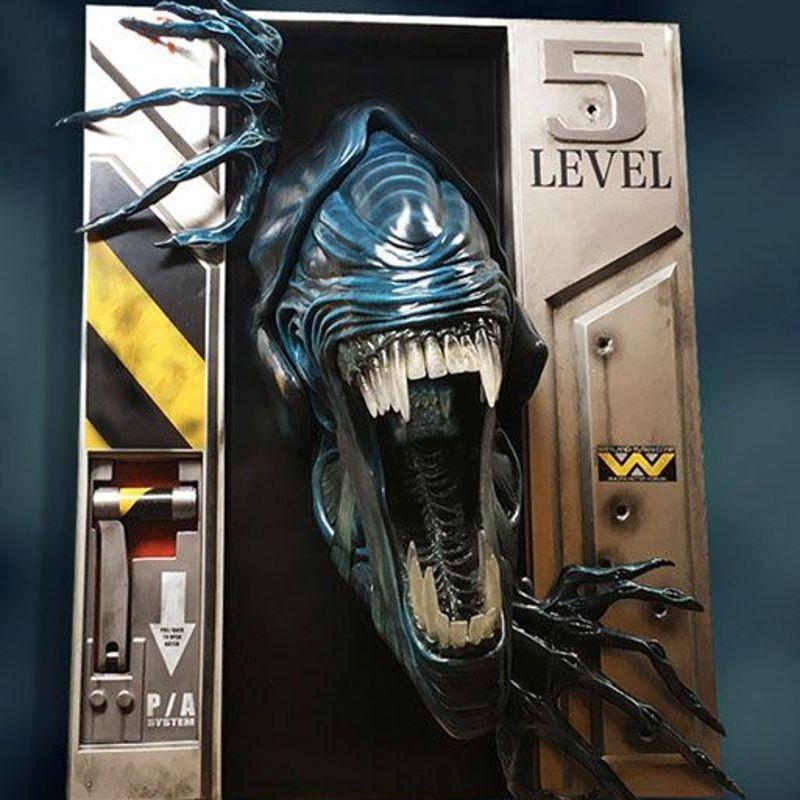Alien Queen - Aliens - Life-Size Wand-Skulptur