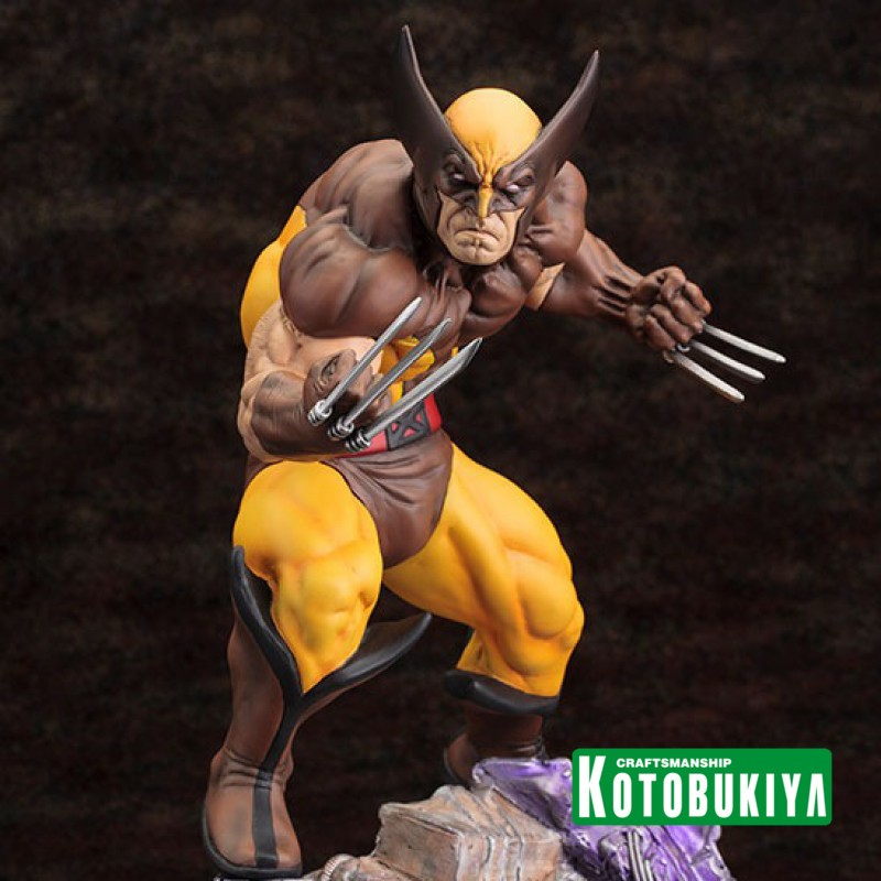Wolverine Brown Costume - Fine Art Statue