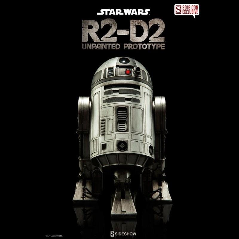R2-D2 Unpainted Prototype 2016 Con Exclusive - Star Wars - 1/6 Scale Figur