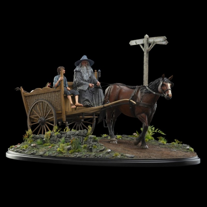 Gandalf & Frodo on Cart - Herr der Ringe - 1/6 Scale Masters Collection Statue
