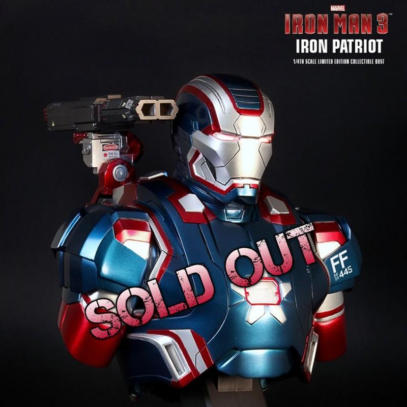 Iron Patriot - Iron Man 3 - 1/4 Scale Bust