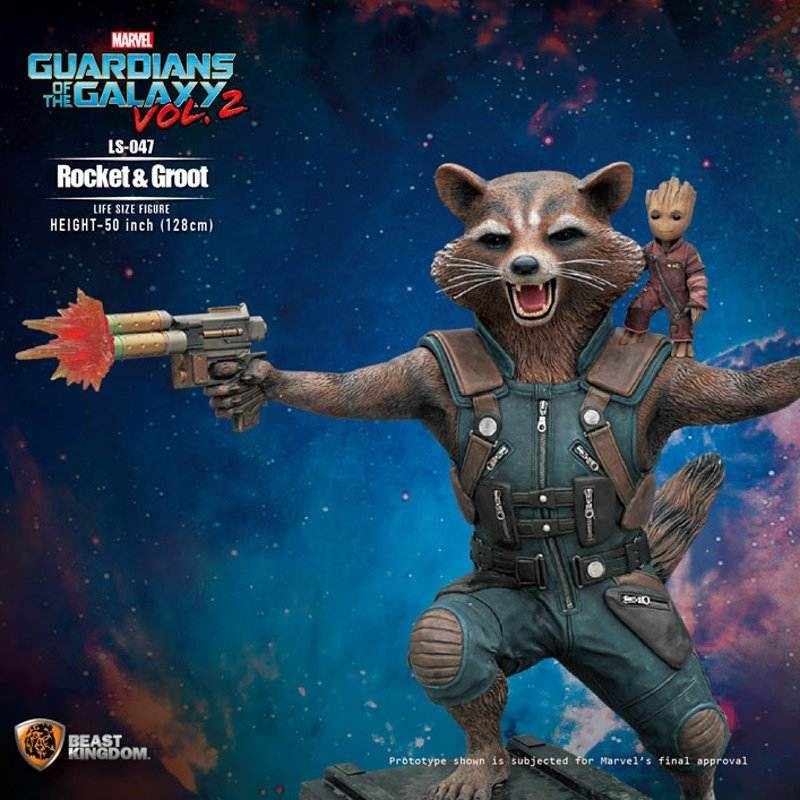 Rocket & Groot - Guardians of the Galaxy Vol. 2 - Life-Size Statue