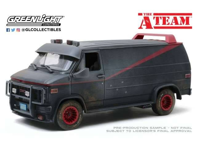 GMC Vandura Weathered Version with Bullet Holes - A-Team - Diecast Modell 1/18