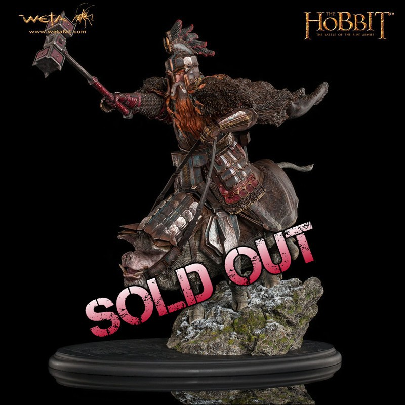 Dain Ironfoot on War Boar - Der Hobbit - 1/6 Scale Statue