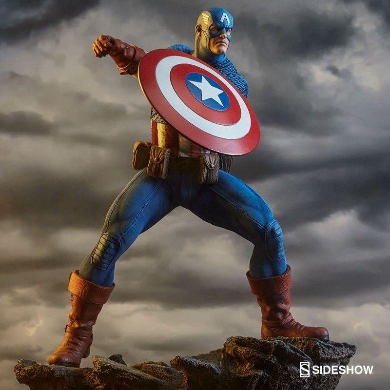Captain America - Avengers Assemble - 1/5 Scale Polystone Statue