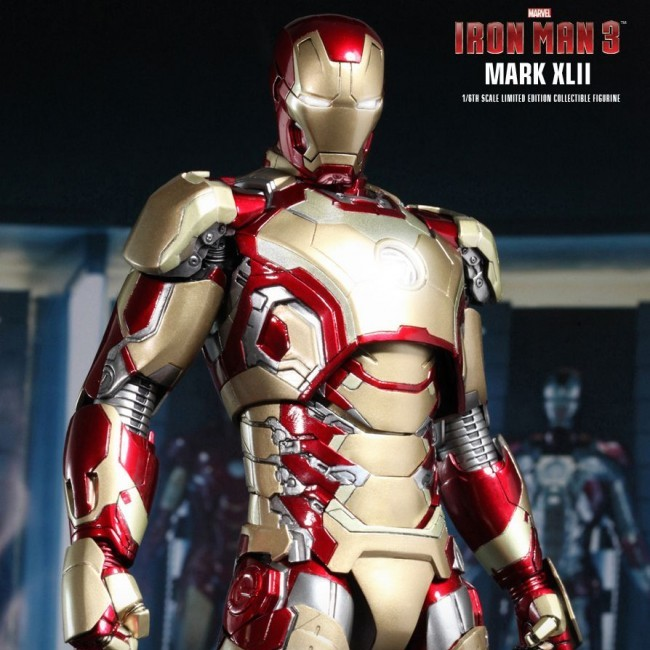 Mark XLII - Iron Man 3 - Diecast 1/6 Scale Figur