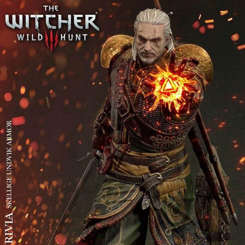 Geralt of Rivia Skellige Undvik Armor - Witcher 3 Wild Hunt - 1/4 Scale Statue