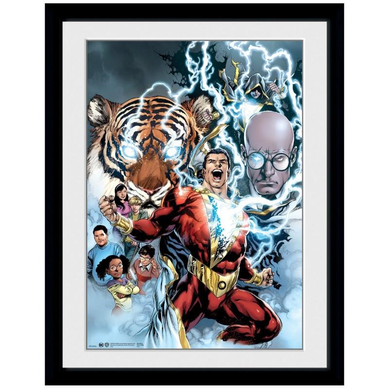 Shazam Collage - DC Comics - Poster im Rahmen