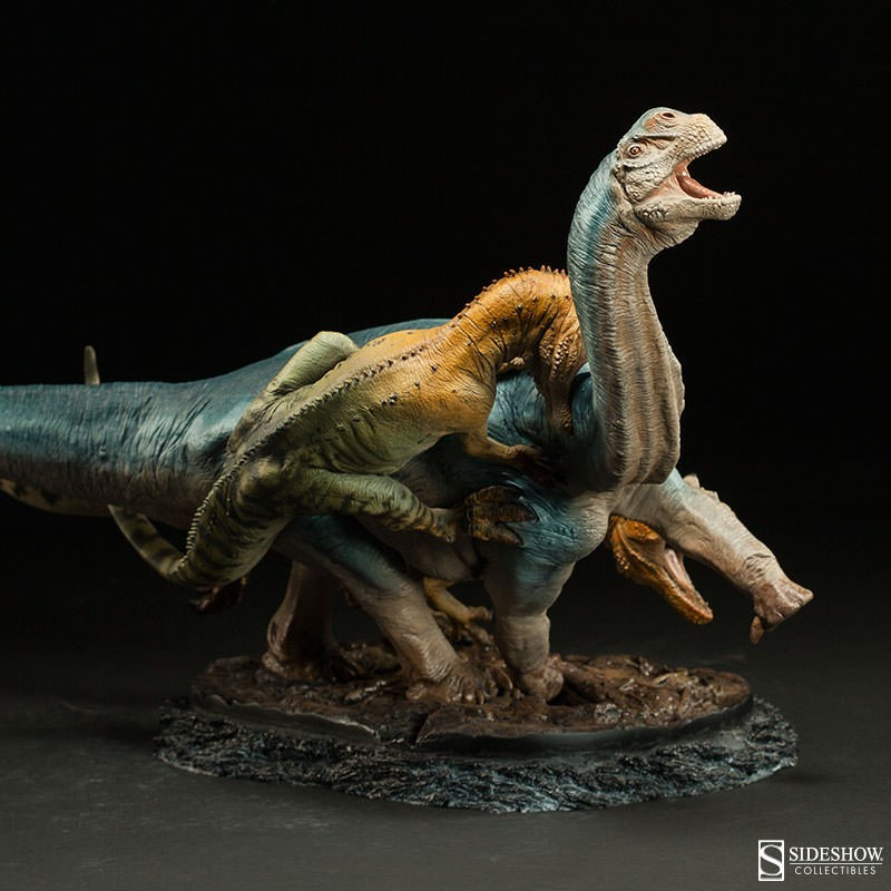 Allosaurus vs Camarasaurus - Dinosaurier - Polystone Statue