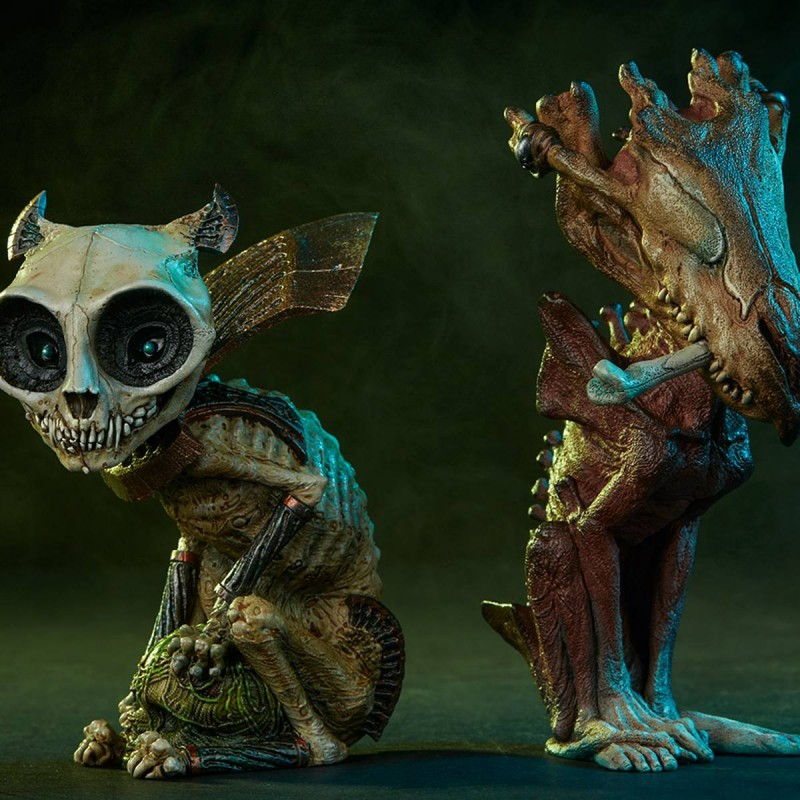 Doppelpack Skratch & Riazz - Court of the Dead - Critters Collection Statuen