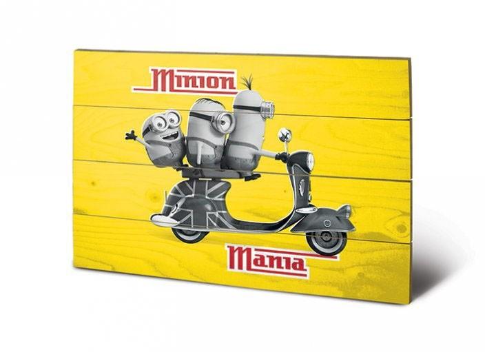 Minion Mania Yellow - Minions - Holzdruck 40 x 60 cm