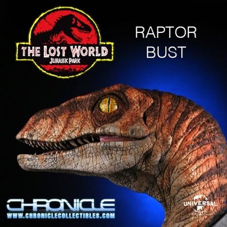 Male Raptor - Jurassic Park - 1/1 Scale Büste