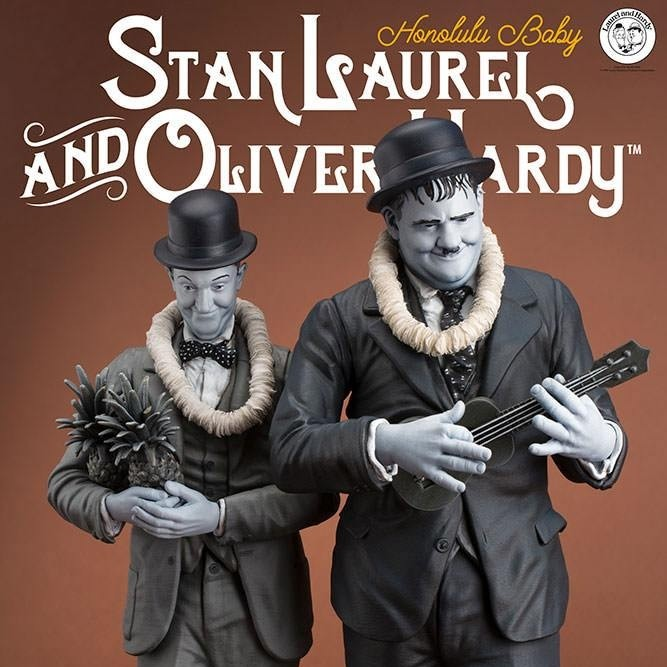 Stan Laurel & Oliver Hardy - Old&Rare - Resin Statue 27cm