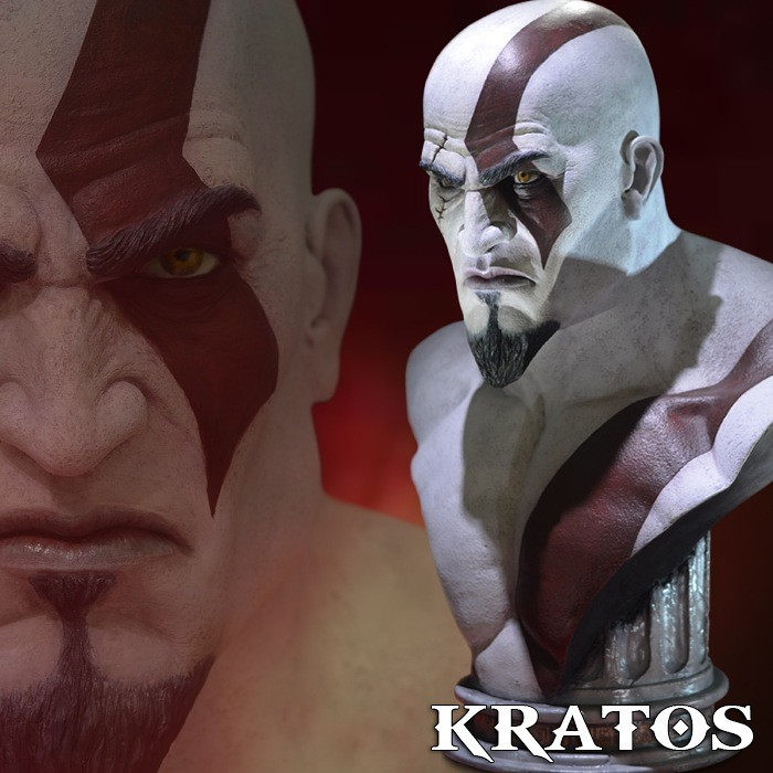 Kratos - God of War Ascension - Life Size Bust