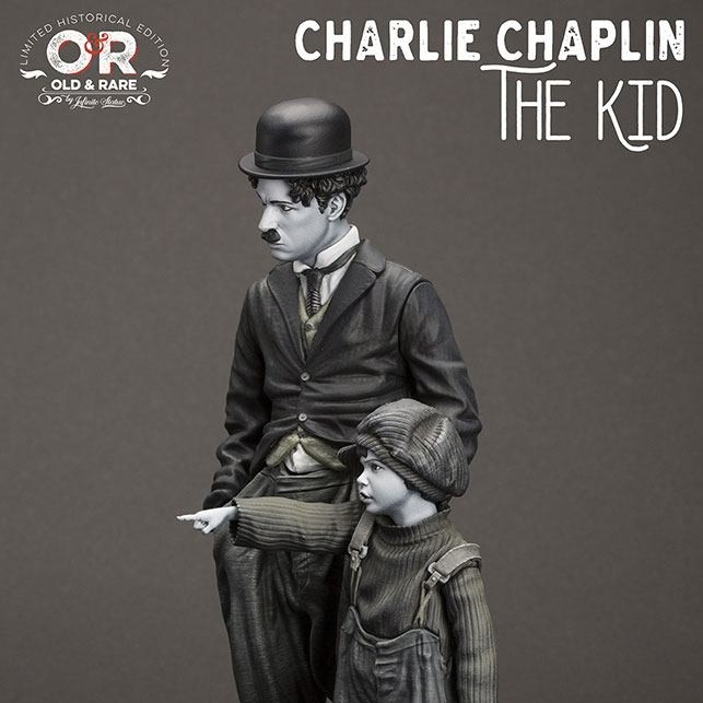 Charlie Chaplin The Kid - Old&Rare - Resin Statue 25cm