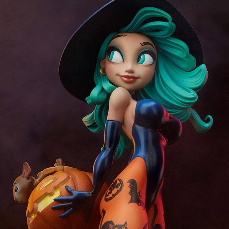 Pumpkin Witch by Chris Sanders - Happy HallowQueens Collection - Polystone Statue