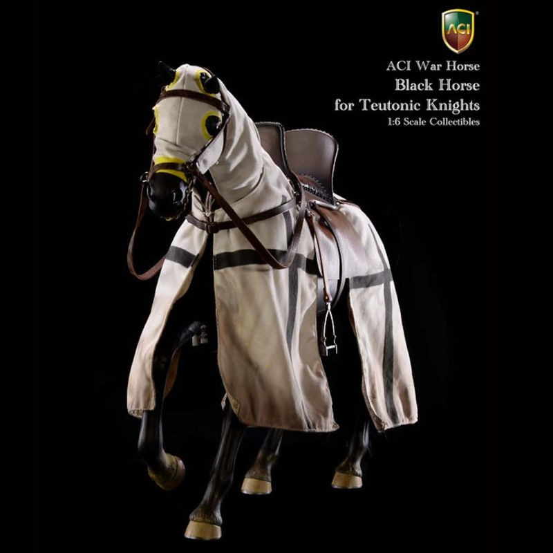 Black War Horse for Teutonic Knights - 1/6 Scale Collectible