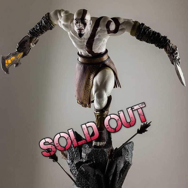 Lunging Kratos - God of War - 1/4 Scale Statue