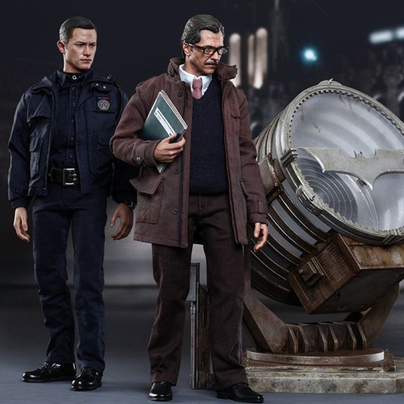 John Blake & Jim Gordon mit Bat-Signal Set