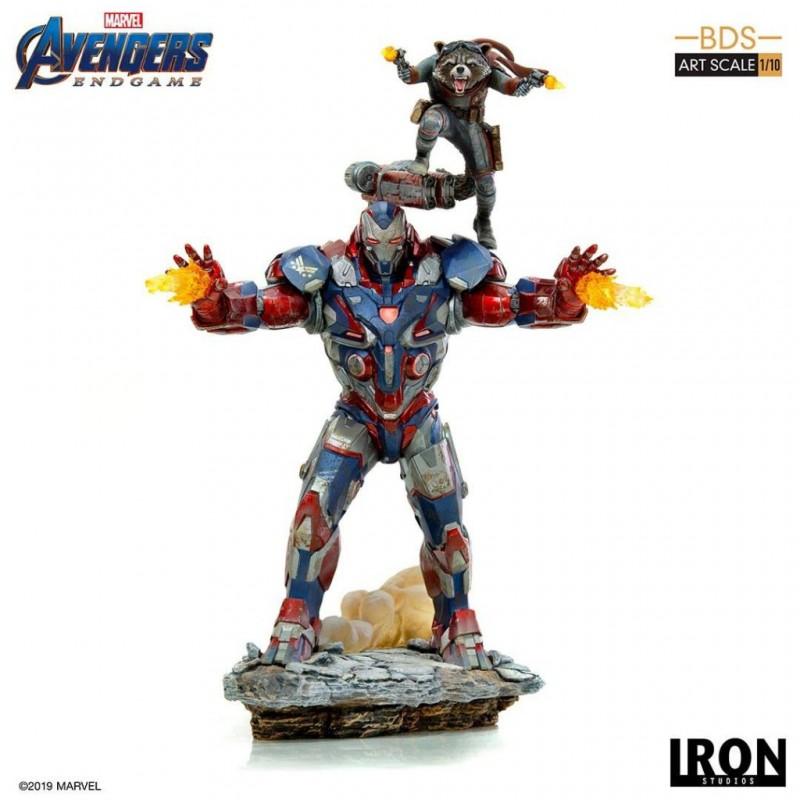 Iron Patriot & Rocket - Avengers: Endgame - BDS Art 1/10 Scale Statue