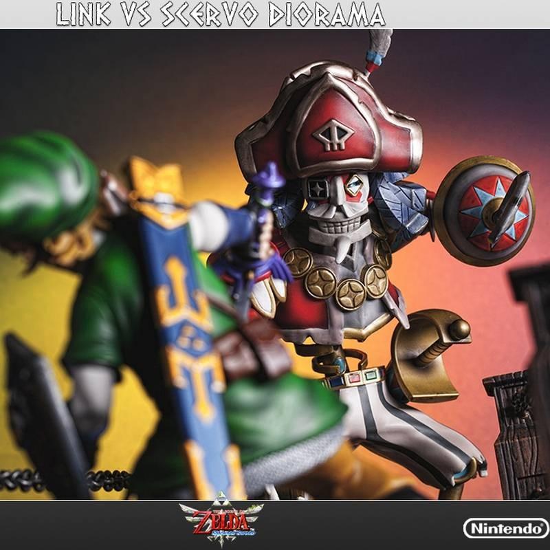 Link vs Scervo Diorama - Legend of Zelda - Polystone Statue