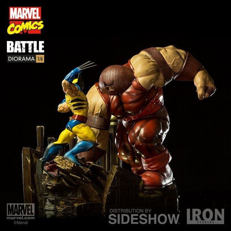 Wolverine vs Juggernaut - Marvel Comics - 1/6 Scale Diorama