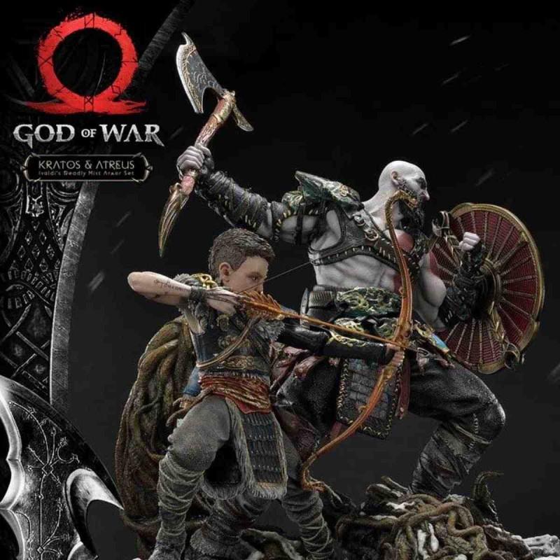 Kratos & Atreus - God of War (2018) - 1/4 Scale Polystone Statue