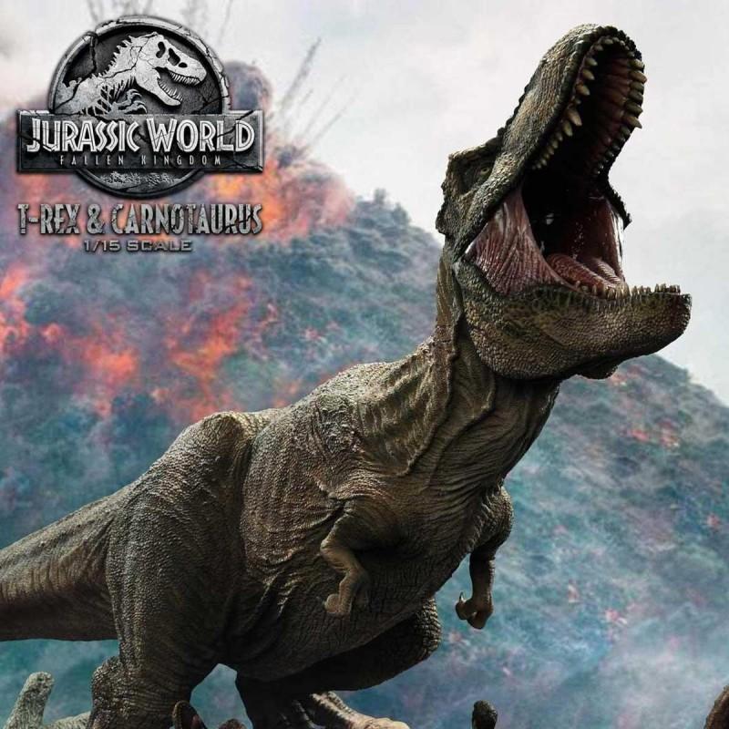 T-Rex & Carnotaurus - Jurassic World: Fallen Kingdom - 1/15 Scale Polystone Statue