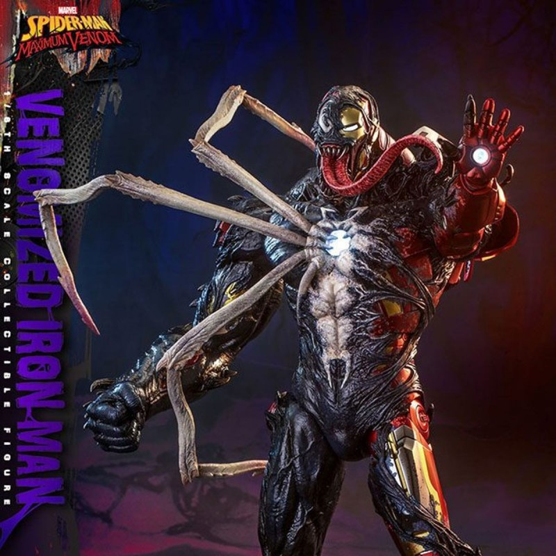 Venomized Iron Man - Marvel's Spider-Man: Maximum Venom - 1/6 Scale Actionfigur