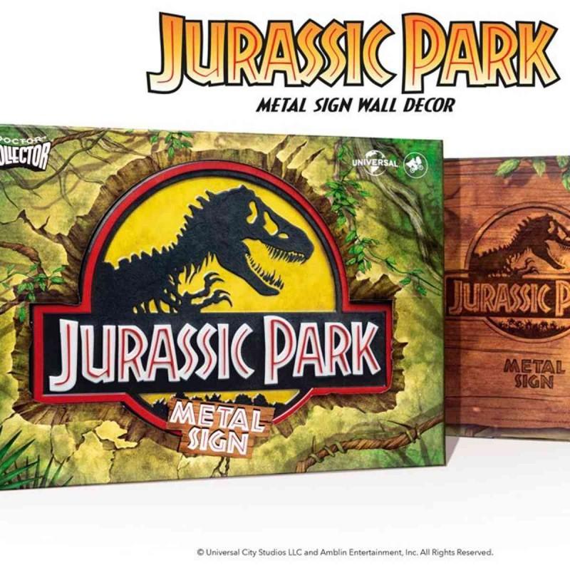 Logo Metallschild - Jurassic Park