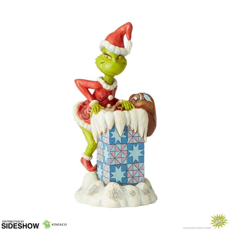 Grinch Climbing in the Chimney by Jim Shore - Resin Statue 23cm
