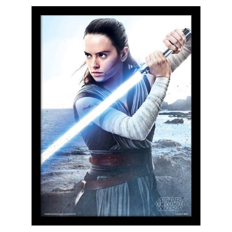 Rey Engage - Star Wars Episode VIII - Poster im Rahmen