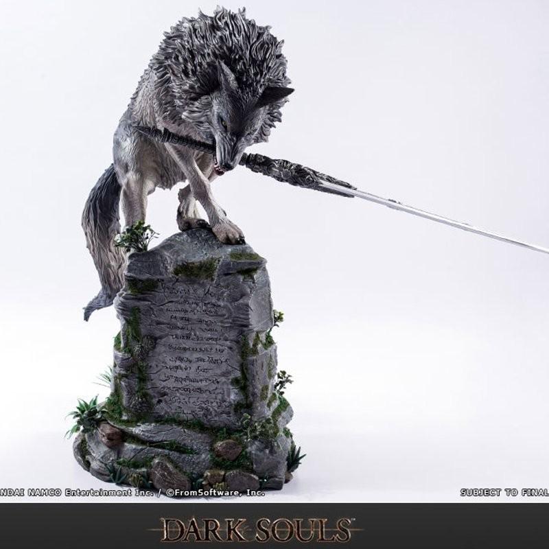 Grosser Grauer Wolf Sif - Dark Souls - Polystone Statue