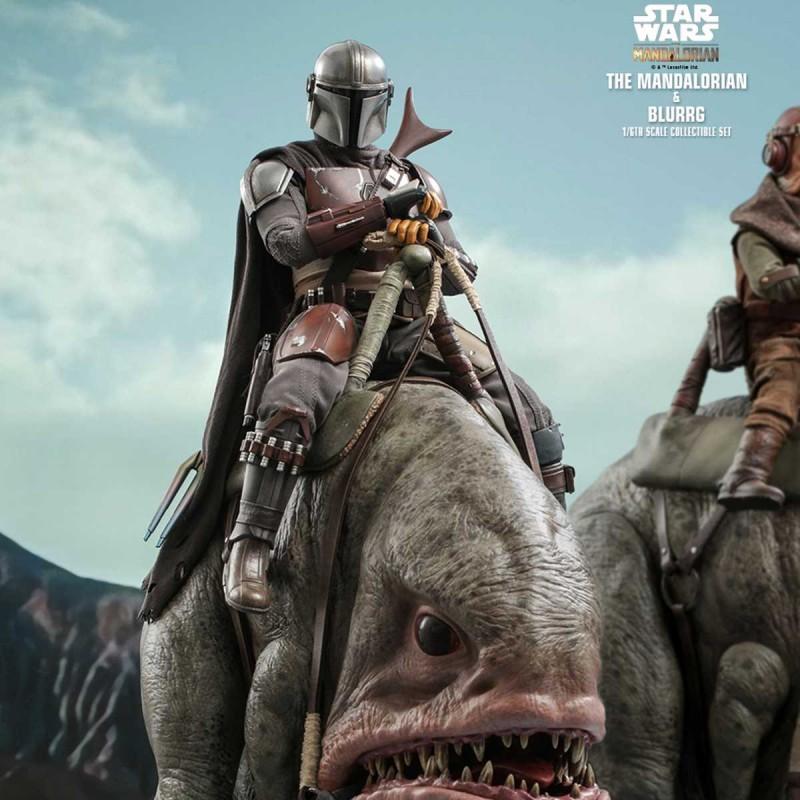 The Mandalorian & Blurrg - Star Wars The Mandalorian - 1/6 Scale Figuren Set