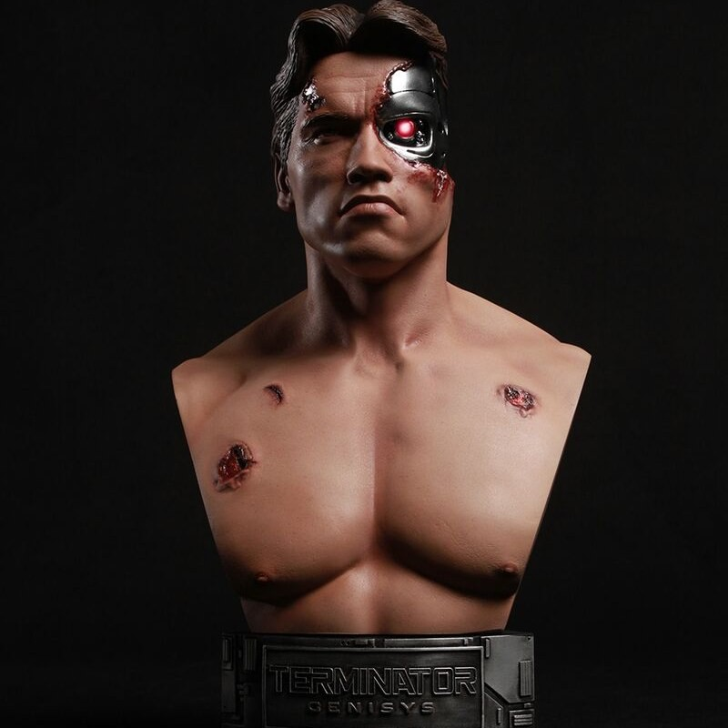 Battle Damaged T-800 - Terminator Genisys - 1/2 Büste