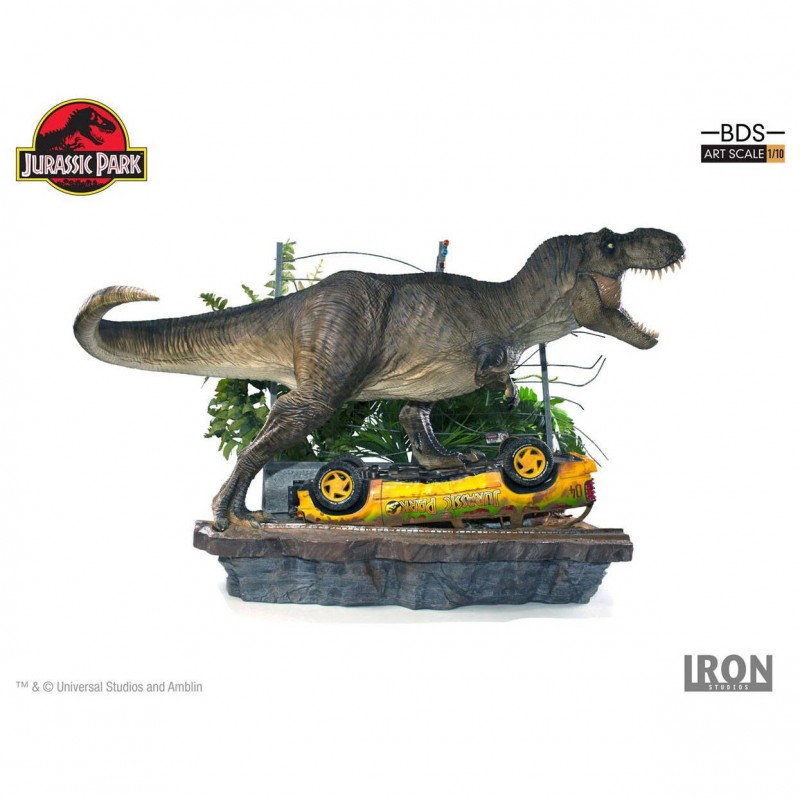 T-Rex Attack Set A - Jurassic Park - 1/10 Scale Diorama